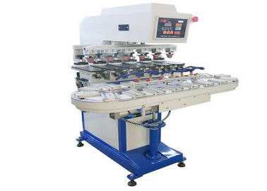 الصين Promotional Gifts Tampo Pad Printing Machine Six Color Conveyor Belt Printer مصنع